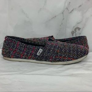 Toms Multi Colors Canvas Slip-On Shoes